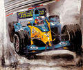 F1 Series - Alonso in the middle of a race by A. Uranga