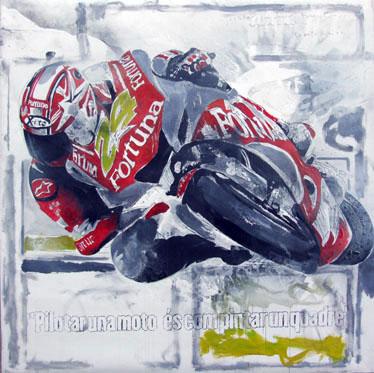 Moto GP Series - Assaulting the curve by A. Uranga