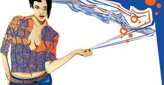 Blue and Orange Flash by Adriana Badariotti