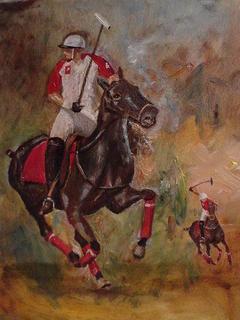 Polo Players V by Gustavo López-Cobo