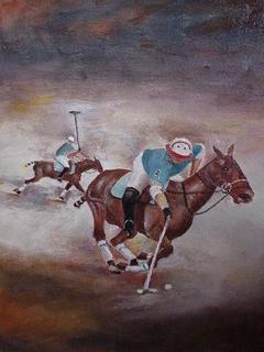 Polo Players VI by Gustavo López-Cobo