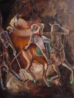 Polo Players VIII by Gustavo López-Cobo