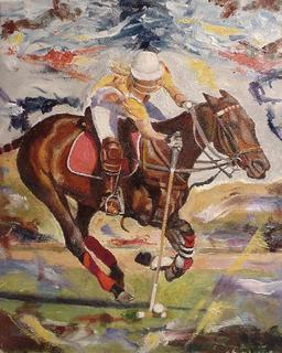 A Polo Player by Gustavo López-Cobo