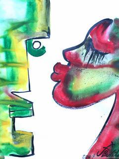 The Kiss  15 by Jorge Berlato