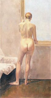 Nude and Window by Angel Badía Camps