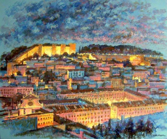 Night Lisboa Castle by Jorge Xavier Morato