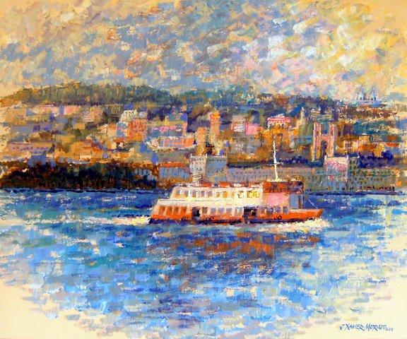 Barco Cacilheiro Frente a Lisboa by Jorge Xavier Morato