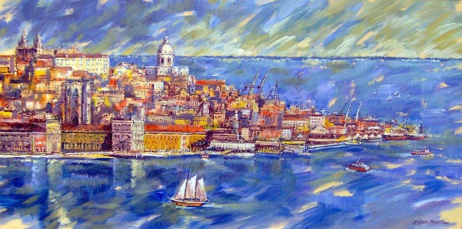Lisboa from the Tajo by Jorge Xavier Morato