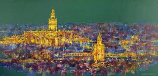Sevilla at Night by Jorge Xavier Morato