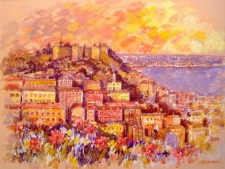 Castel at Uptwon Lisboa by Jorge Xavier Morato