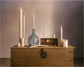 Candles still-life by Aldo Bahamonde