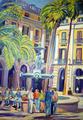La Plaza Real by Gregorio Gigorro