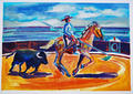 Rejoneador and Bull by Gregorio Gigorro