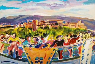 In the Balcony by Gregorio Gigorro