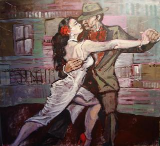 Tango in La Boca by Ana León
