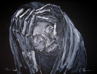 Homage to S. Salgado (Hands in Head) by Vicente Quiles