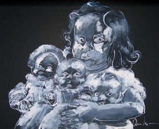 Girl with Dolls by Vicente Quiles