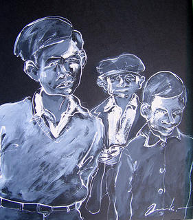 Three Children by Vicente Quiles