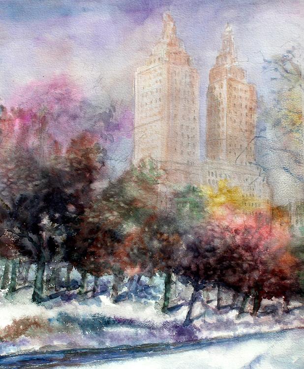Winter in Central park by Enrique Pablo Vázquez