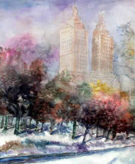 Winter in Central park by Enrique Pablo Vázquez