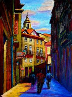 Santiago Street by Enrique Pablo Vázquez