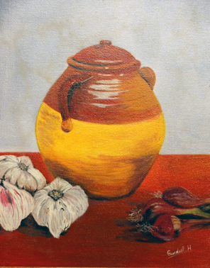 Vase with Vegetables by Horacio Gurdiel