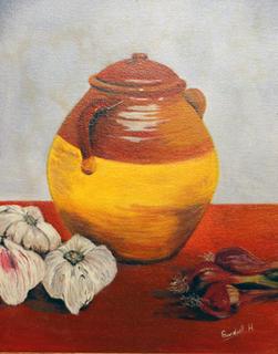 Vase with Vegetables by Horacio Gurdiel