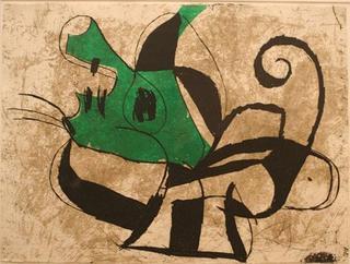 Comedia del Arte 63 by Joan Miró