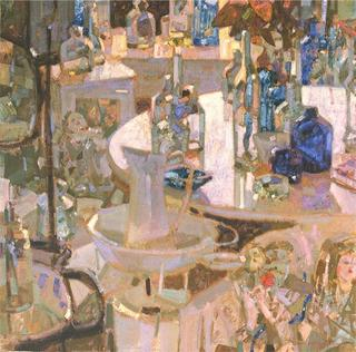 Interior with Bottles by Isidro Vilaseca