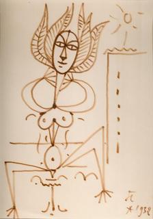 Femme - Fleur by Jean Cocteau