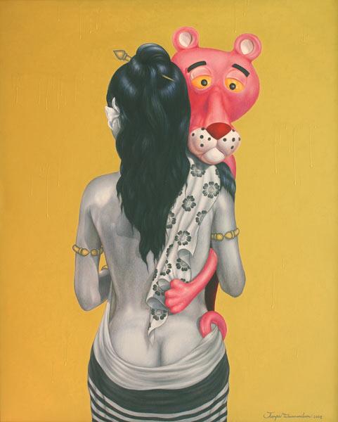 The Pink Panther Strikes Again [after J.Koons] by Jirapat Tatsanasomboon