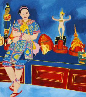 Venus with Thai Traditional Dolls by Kritsana Chaikitwattana