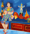 Venus with Thai Traditional Dolls by Kritsana Chaikitwattana