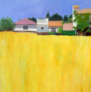 Houses between Blue and Yellow by María Mora Ramirez