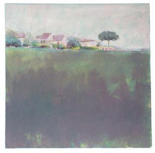 Green Landscape and Pine by María Mora Ramirez
