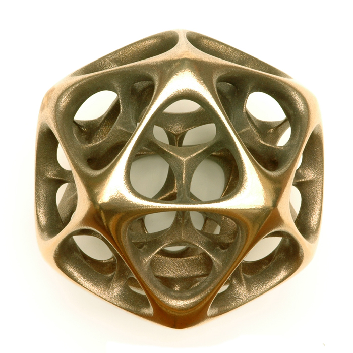 Icosahedron IV by Vladimir Bulatov