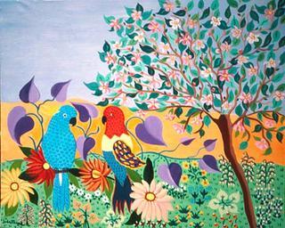 Parrots by Blanca Sagastizabal