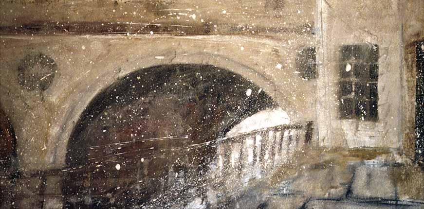 Bath Bridge Road (Pultney) II by Kim Thrower