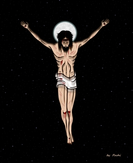 Crucified Christ - banner - (size 20 XL) by PACHI