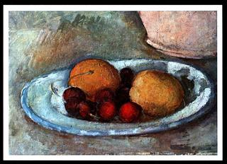 The Blue Plate, 1879-1882 by Paul Cezanne