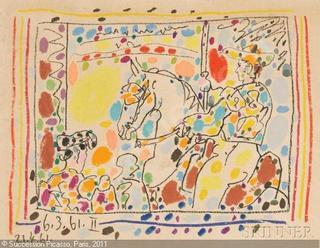 A Los Toros. Le Piador II. 1961 by Pablo Picasso