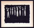 Huit Silhouettes (aka Eight silhouttes) by Pablo Picasso