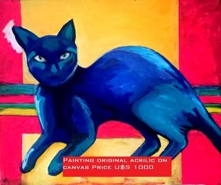 Blue Cat by Raquel Sara Sarangello