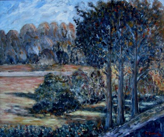 Landscape with trees. by Fernando Gomila