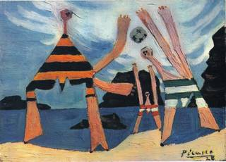 Dinard (aka On the beach) by Pablo Picasso