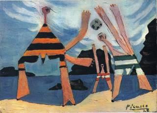 Dinard (aka On the beach) by Pablo Picasso