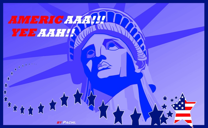 """United States of America banner  """"AMERICA"""" by PACHI"""