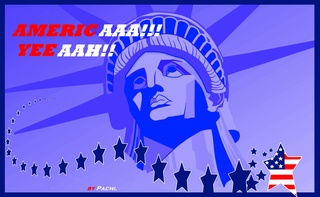"United States of America banner  ""AMERICA"" by PACHI"