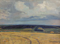 Mown wheat in Pallasovka by Vasiliy Strigin