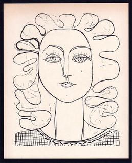 Françoise aux cheveux ondulés, aka Françoise with curly hair by Pablo Picasso